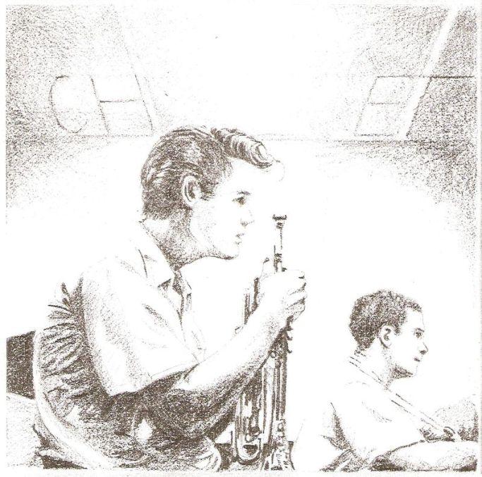 Chet Baker graphite sur papier 20x20-2008
