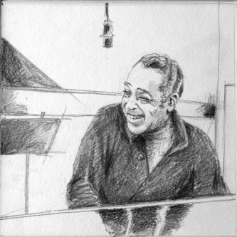 Duke Ellington graphite sur papier 20x20-2008